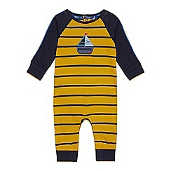 J by Jasper Conran - Baby Boys' Yellow Boat Applique Romper Suit