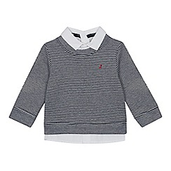 J by Jasper Conran - Boys' Grey Mock Shirt Jumper