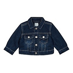 J by Jasper Conran - Baby Girls' Navy Denim Jacket