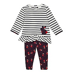 J by Jasper Conran - Baby Girls' Multicoloured Rabbit Top and Leggings Set
