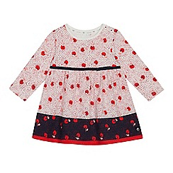 J by Jasper Conran - Baby Girls' Off White Textured Floral Dress