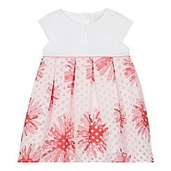 4a31f1e613 J by Jasper Conran - Baby Girls  Pink Floral Burnout Dress