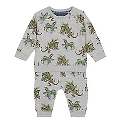 Mantaray - Baby boys' grey lizard print sweatshirt and joggers set