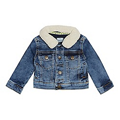 Mantaray - Babies Blue Denim Borg Collar Jacket