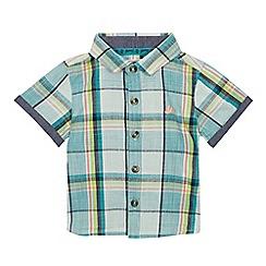 Mantaray - Baby Boys' Green Checked Short Sleeve Shirt