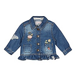 Mantaray - Babies' Blue Denim Floral Embroidered Jacket