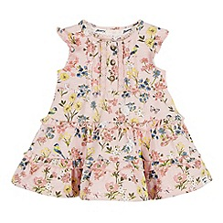 Mantaray - Baby Girls' Multicoloured Floral Print Dress