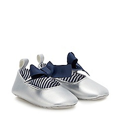 J by Jasper Conran - Baby Girls' Silver Ballet Pumps