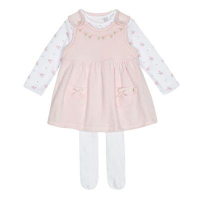 d7766dc8fdc3 J by Jasper Conran Baby girls  light pink pinafore