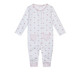 J by Jasper Conran - Baby girls' pink sleepsuit and bib set