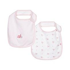 J by Jasper Conran - Pack of two baby girls' pink printed bibs