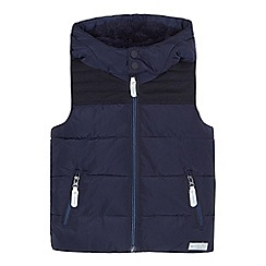 J by Jasper Conran - Boys' navy padded hooded gilet