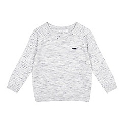 bluezoo - Boys' grey marl knit jumper