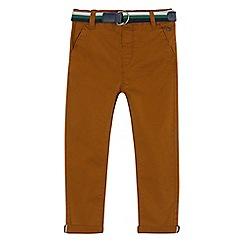 J by Jasper Conran - Boys' tan slim chinos with belt
