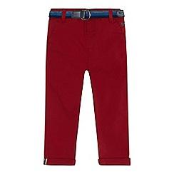 J by Jasper Conran - Boys' red stretch slim chinos