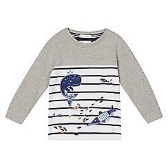 J by Jasper Conran - Boys' grey whale applique sweater