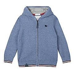J by Jasper Conran - Boys' blue embroidered logo hoodie