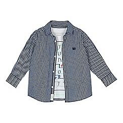 J by Jasper Conran - Boys' blue gingham shirt and t-shirt set