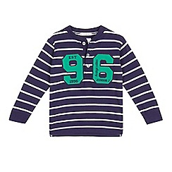 J by Jasper Conran - Boys' navy stripe 96 henley top