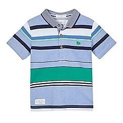 J by Jasper Conran - Boys' blue striped polo shirt