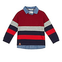 J by Jasper Conran - Boys' multi-coloured striped mock shirt top