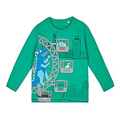bluezoo - Boys' green dinosaur Ferris wheel print top
