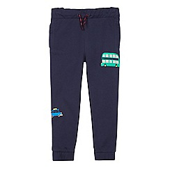 bluezoo - Boys' navy London applique jogging bottoms