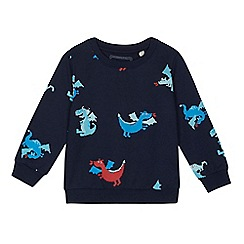bluezoo - Boys' navy dragon print sweater