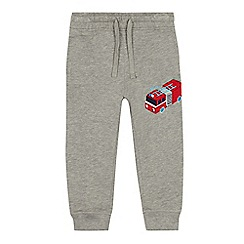 bluezoo - Boys' grey fire engine applique jogging bottoms