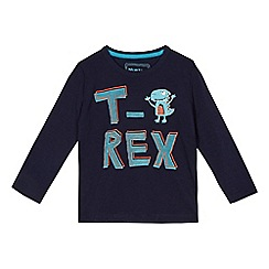 bluezoo - Boys' blue t-rex print t-shirt