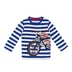 bluezoo - Boys' blue motorbike applique top