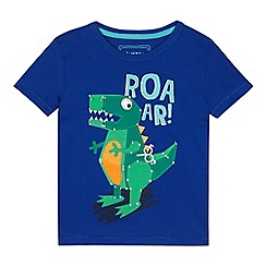 bluezoo - Boys' blue dinosaur applique t-shirt