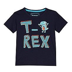 bluezoo - Boys' blue t-rex print t-shirt