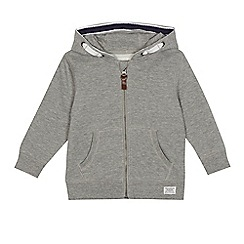 bluezoo - Boys' grey zip through hoodie