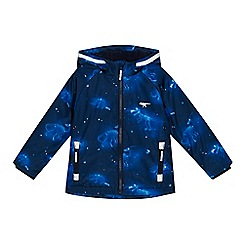 bluezoo - Boys' blue dinosaur print fleece lined jacket