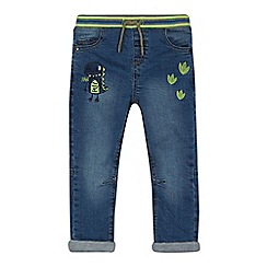 bluezoo - Boys' blue dinosaur applique jeans