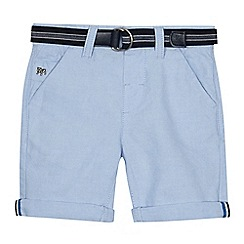 J by Jasper Conran - Boys' pale blue belted Oxford shorts