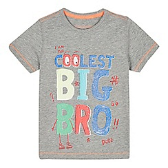 bluezoo - Boys' grey 'Coolest Big Bro' t-shirt