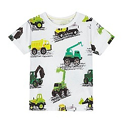 bluezoo - 'Boys' white digger print t-shirt