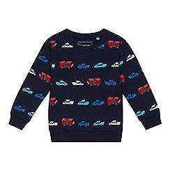 bluezoo - Boys' navy vehicle print jumper