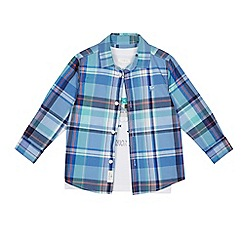 J by Jasper Conran - Boys' blue checked shirt and t-shirt set