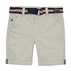 J by Jasper Conran - Boys' grey belted chino shorts