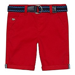 J by Jasper Conran - Boys' red belted chino shorts