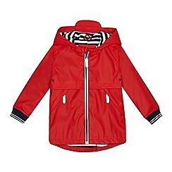 J by Jasper Conran - Boys' red shower resistant raincoat