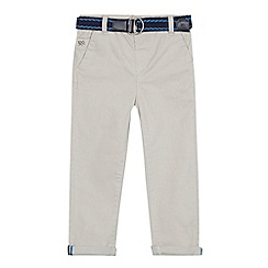 J by Jasper Conran - Boys' light grey belted chinos