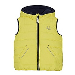 Mantaray - Boys' yellow zip-up hooded gilet