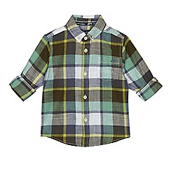 Mantaray - Boys' green checked shirt