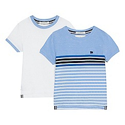 J by Jasper Conran - 'Pack of 2 boys' multi-coloured striped t-shirts