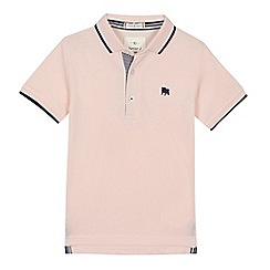 J by Jasper Conran - 'Boys' pink short sleeve polo shirt