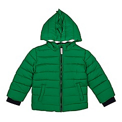 bluezoo - 'Boys' green dinosaur applique shower resistant coat